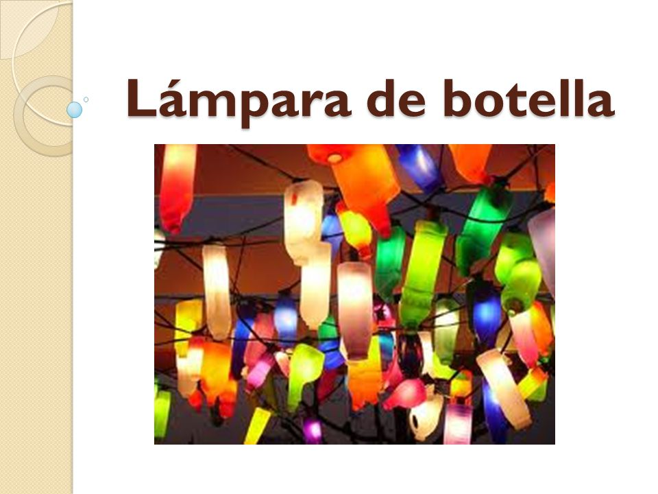 Lámpara de botella