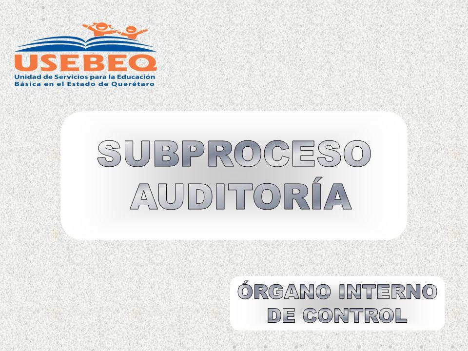 SUBPROCESO AUDITORÍA ÓRGANO INTERNO DE CONTROL