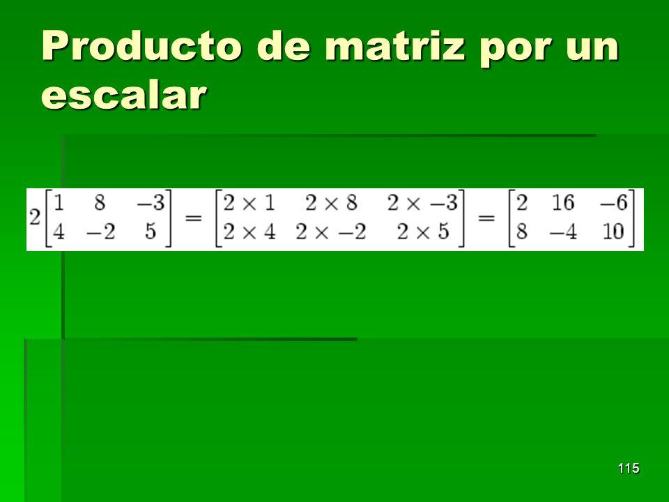 Producto de matriz por un escalar