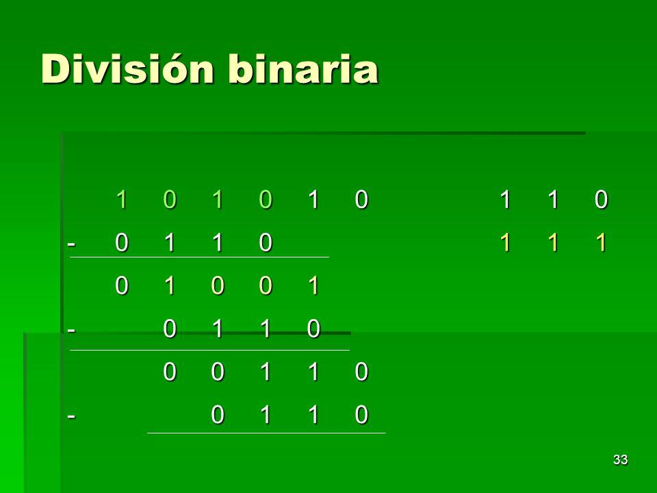 División binaria 1 -