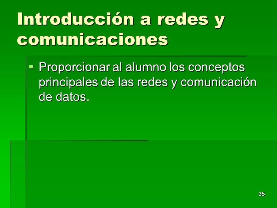 Introducción a redes y comunicaciones