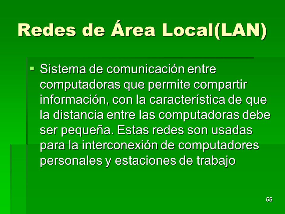 Redes de Área Local(LAN)