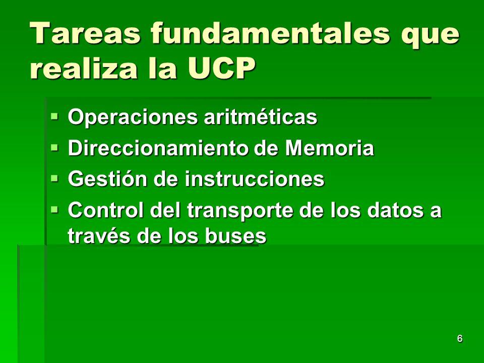 Tareas fundamentales que realiza la UCP