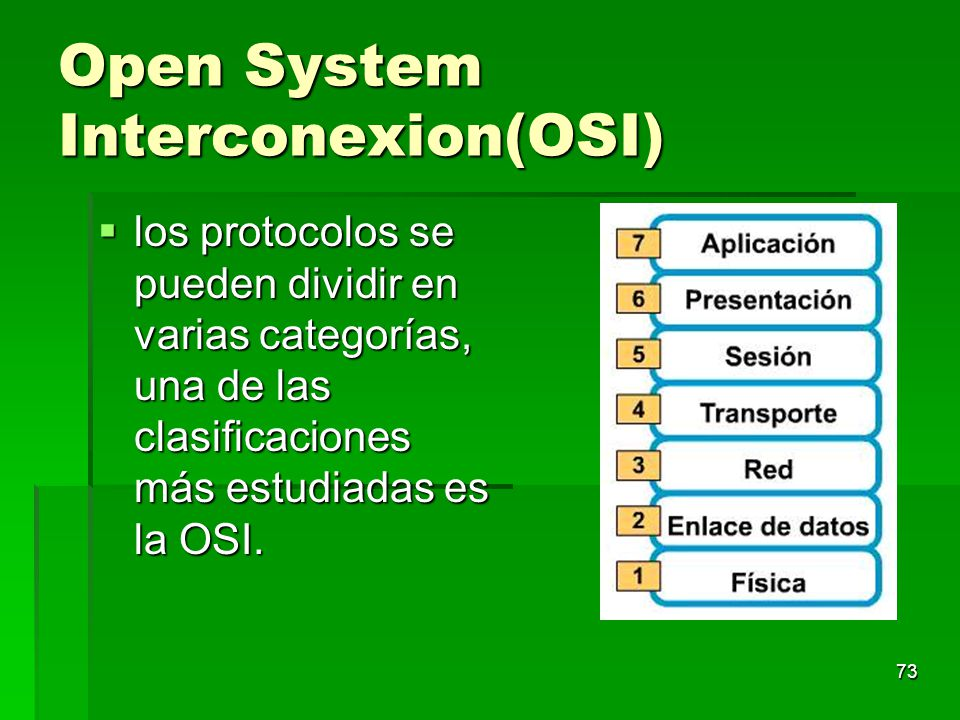Open System Interconexion(OSI)