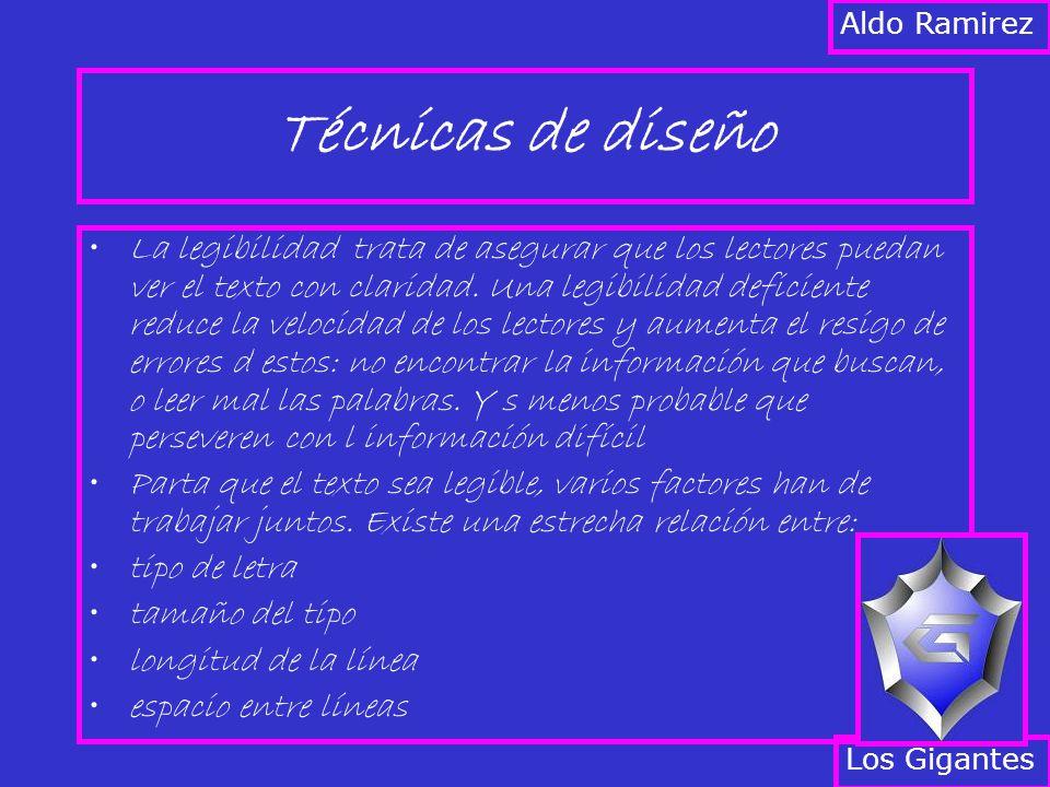 Aldo Ramirez Técnicas de diseño.