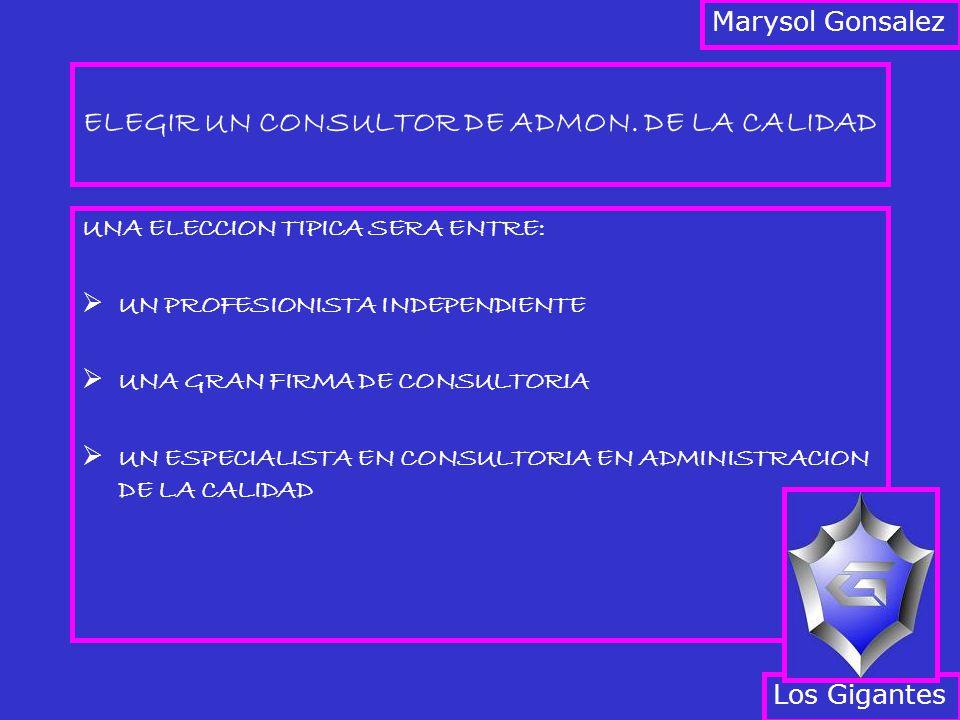 ELEGIR UN CONSULTOR DE ADMON. DE LA CALIDAD