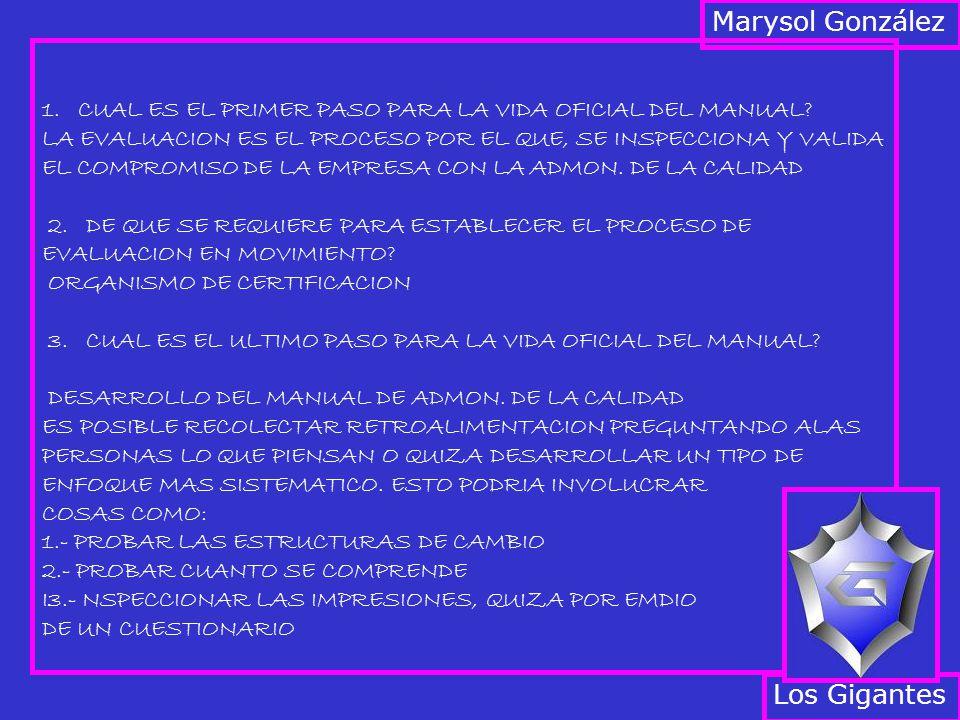 Marysol González Los Gigantes