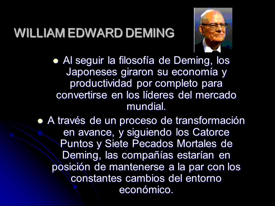 WILLIAM EDWARD DEMING