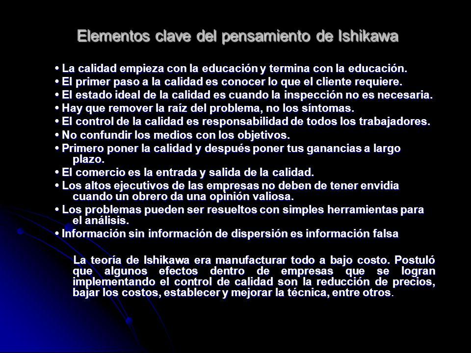 Elementos clave del pensamiento de Ishikawa