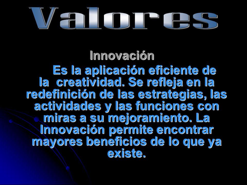 Valores Innovación.