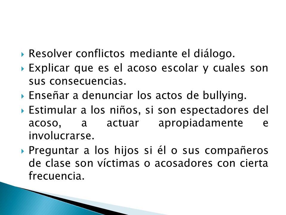 Resolver conflictos mediante el diálogo.