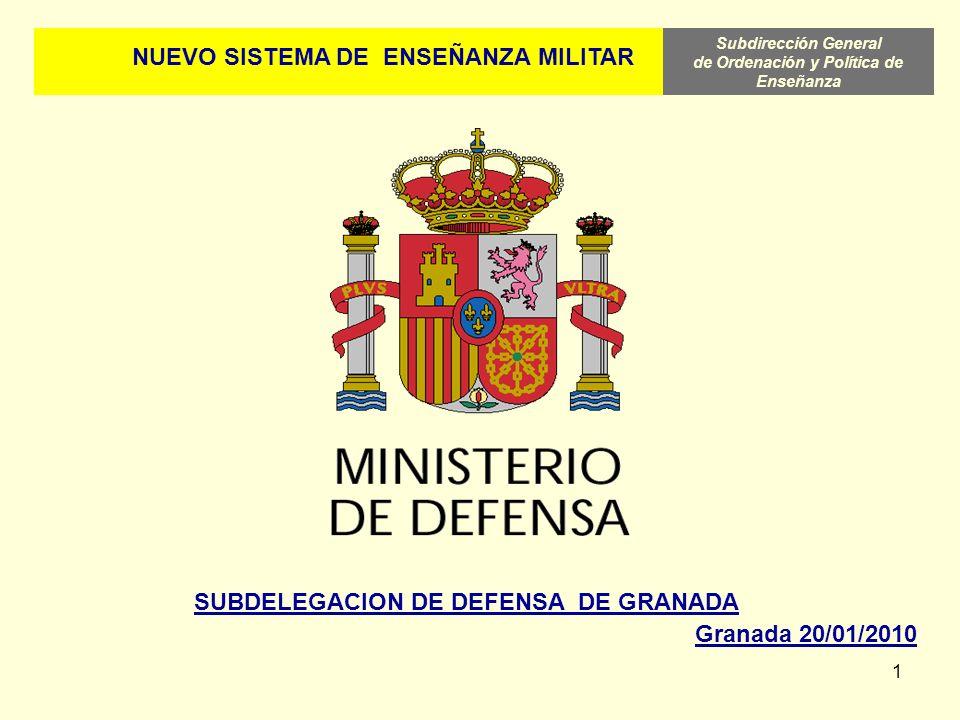 NUEVO SISTEMA DE ENSEÑANZA MILITAR SUBDELEGACION DE DEFENSA DE GRANADA
