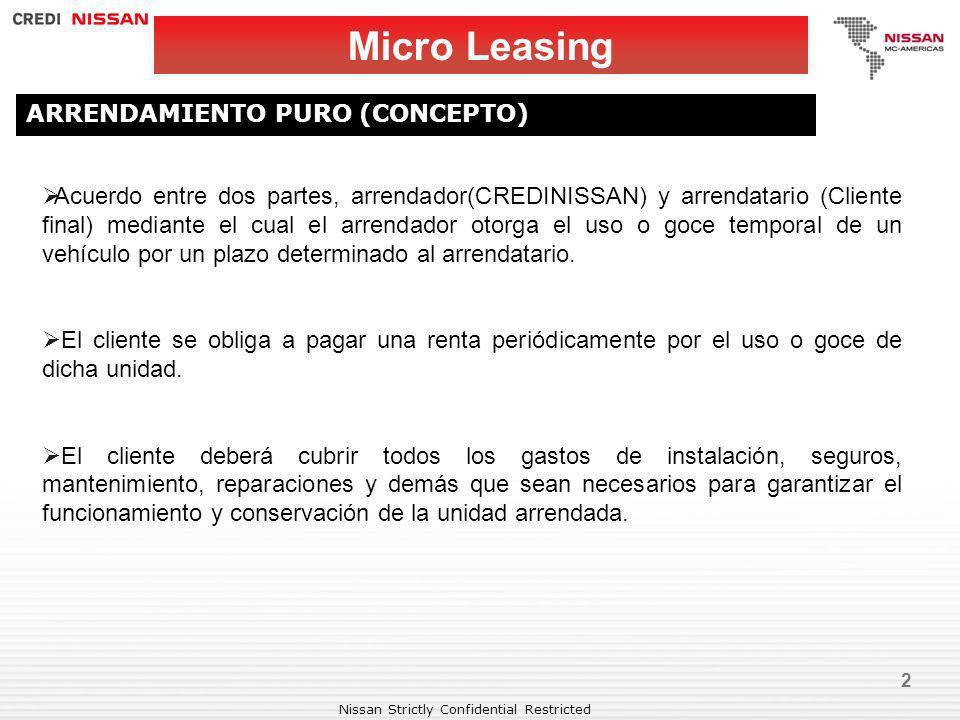 Micro Leasing ARRENDAMIENTO PURO (CONCEPTO)