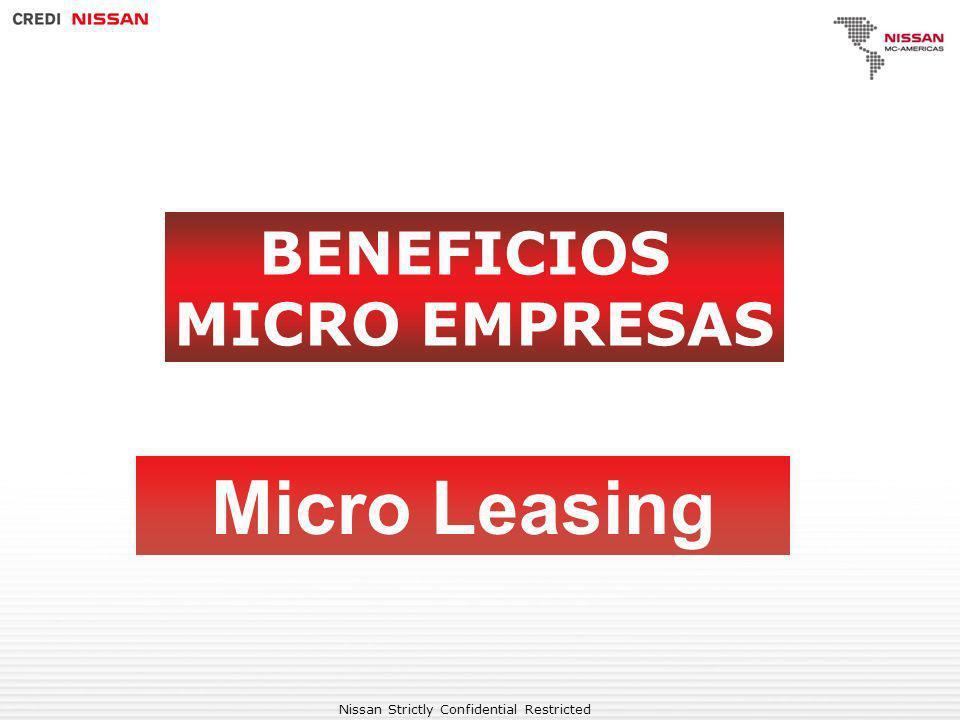BENEFICIOS MICRO EMPRESAS Micro Leasing