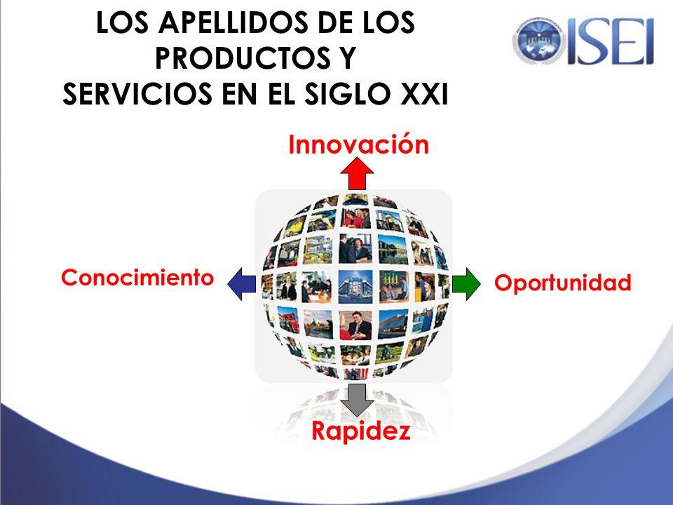 LOS APELLIDOS DE LOS PRODUCTOS Y SERVICIOS EN EL SIGLO XXI