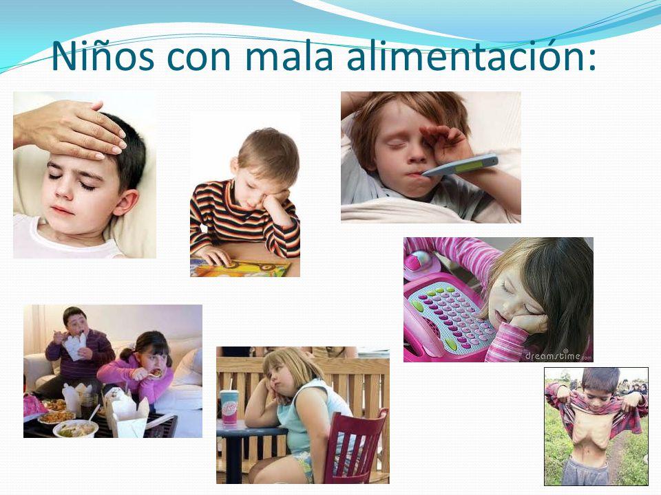Niños con mala alimentación: