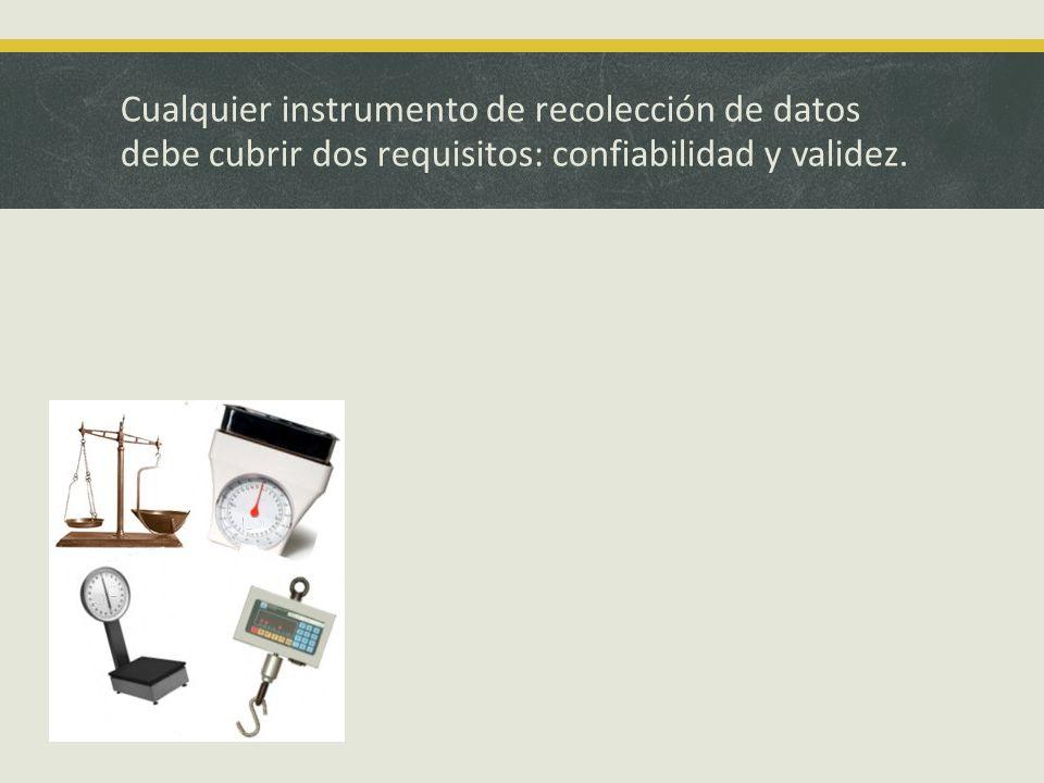 Cualquier instrumento de recolección de datos debe cubrir dos requisitos: confiabilidad y validez.