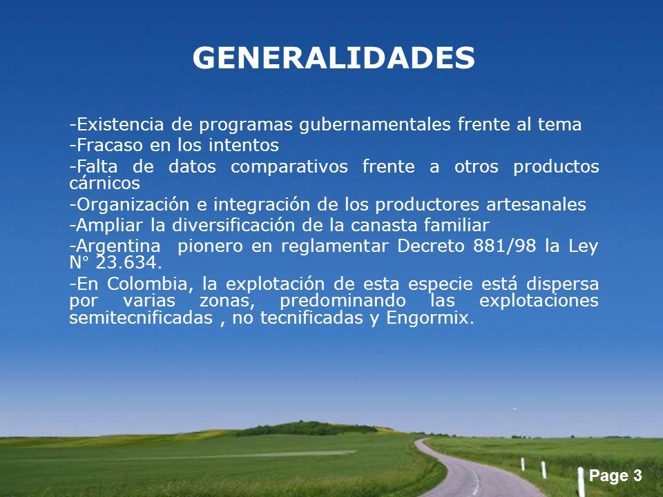 GENERALIDADES -Existencia de programas gubernamentales frente al tema