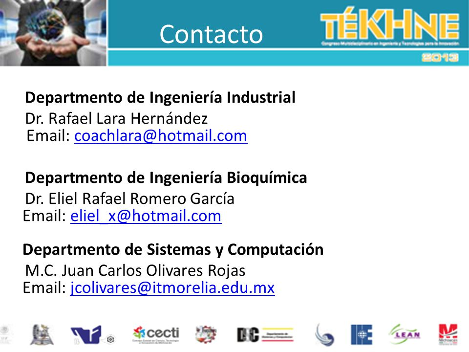 Contacto Departmento de Ingeniería Industrial