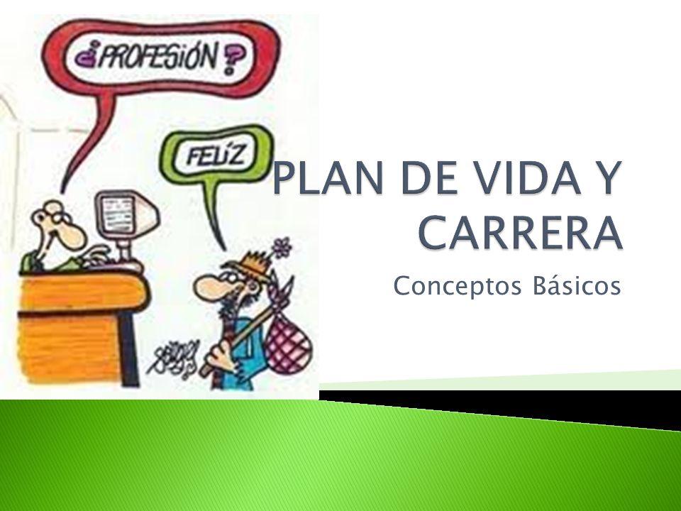 PLAN DE VIDA Y CARRERA Conceptos Básicos