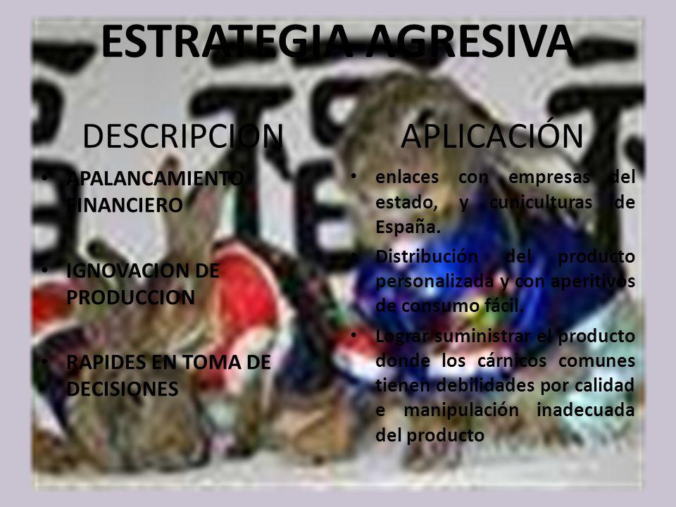 ESTRATEGIA AGRESIVA DESCRIPCION APLICACIÓN APALANCAMIENTO FINANCIERO