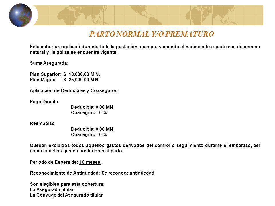 PARTO NORMAL Y/O PREMATURO