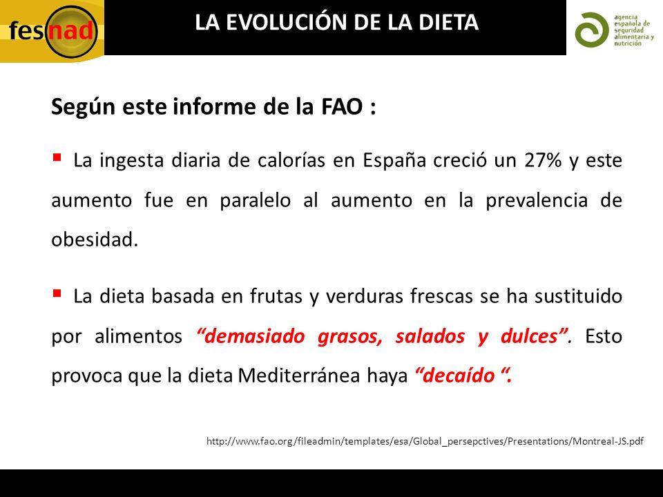 LA EVOLUCIÓN DE LA DIETA