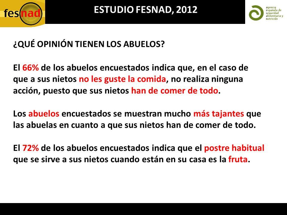 ESTUDIO FESNAD, 2012 ¿QUÉ OPINIÓN TIENEN LOS ABUELOS