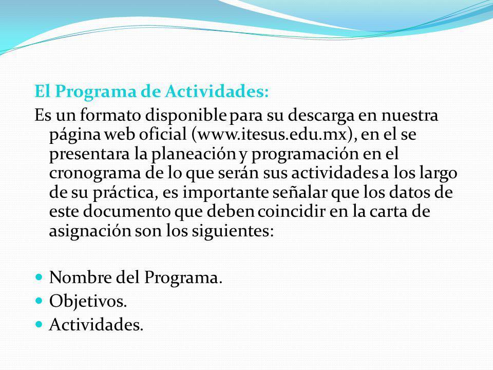 El Programa de Actividades: