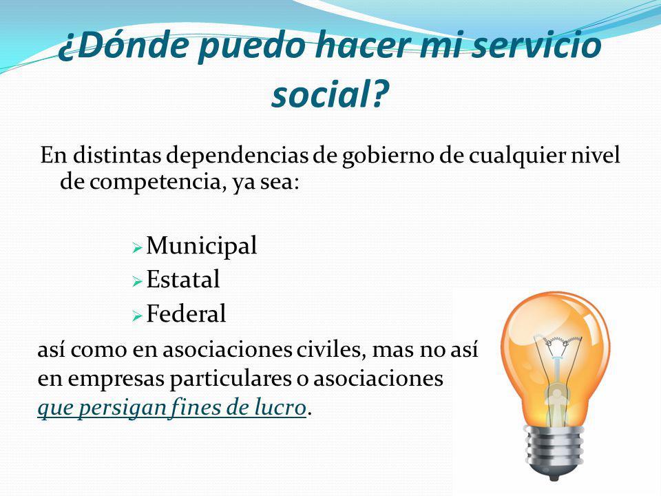 ¿Dónde puedo hacer mi servicio social