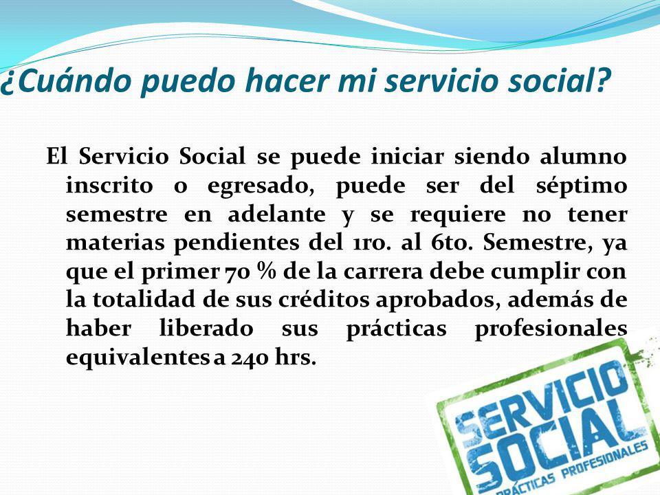 ¿Cuándo puedo hacer mi servicio social