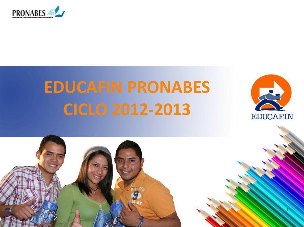EDUCAFIN PRONABES CICLO 2012-2013