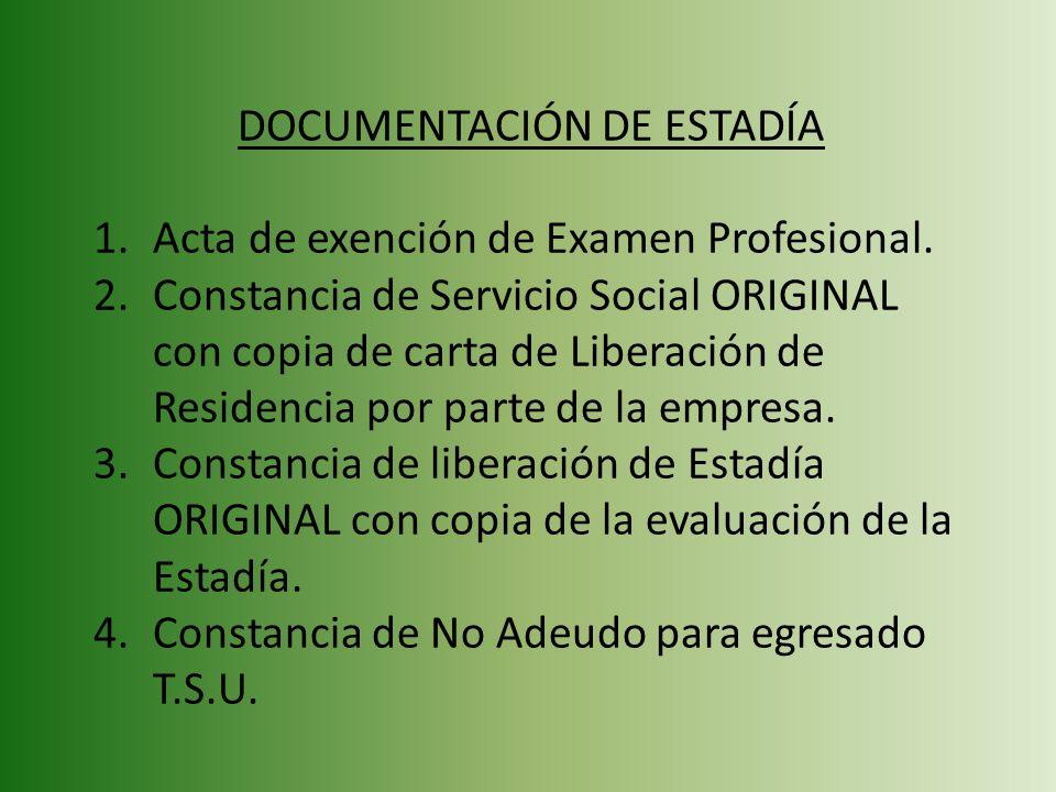DOCUMENTACIÓN DE ESTADÍA