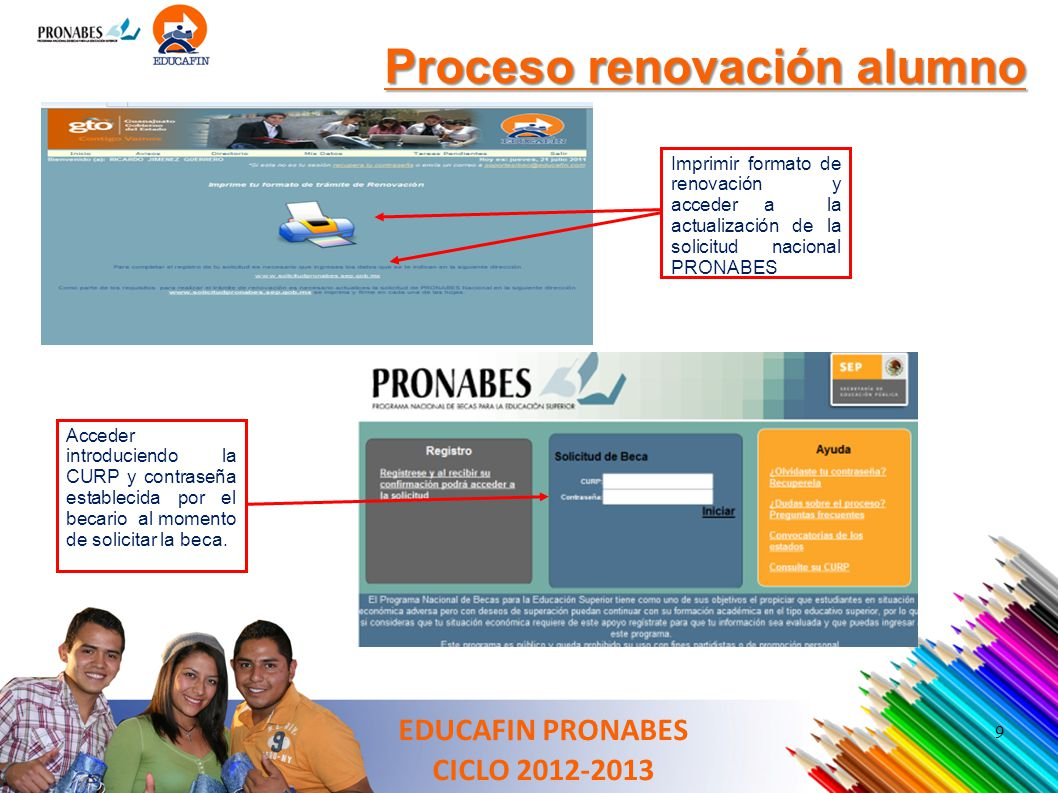 Proceso renovación alumno