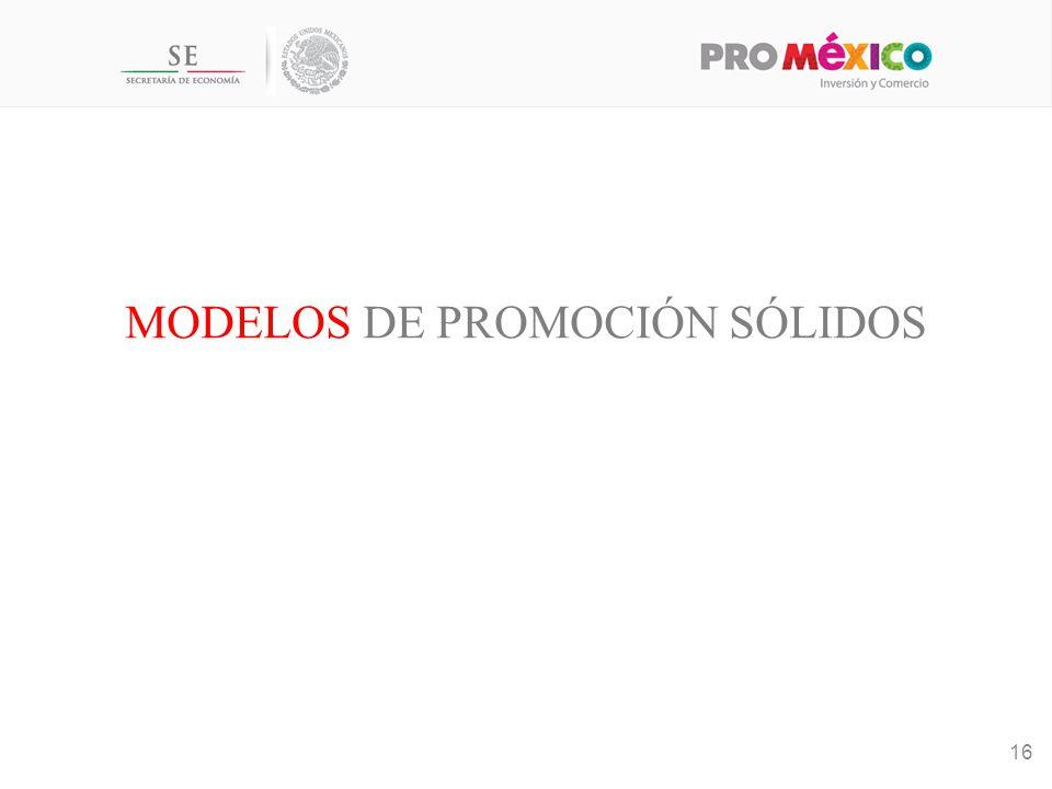 Modelos de promoción sólidos