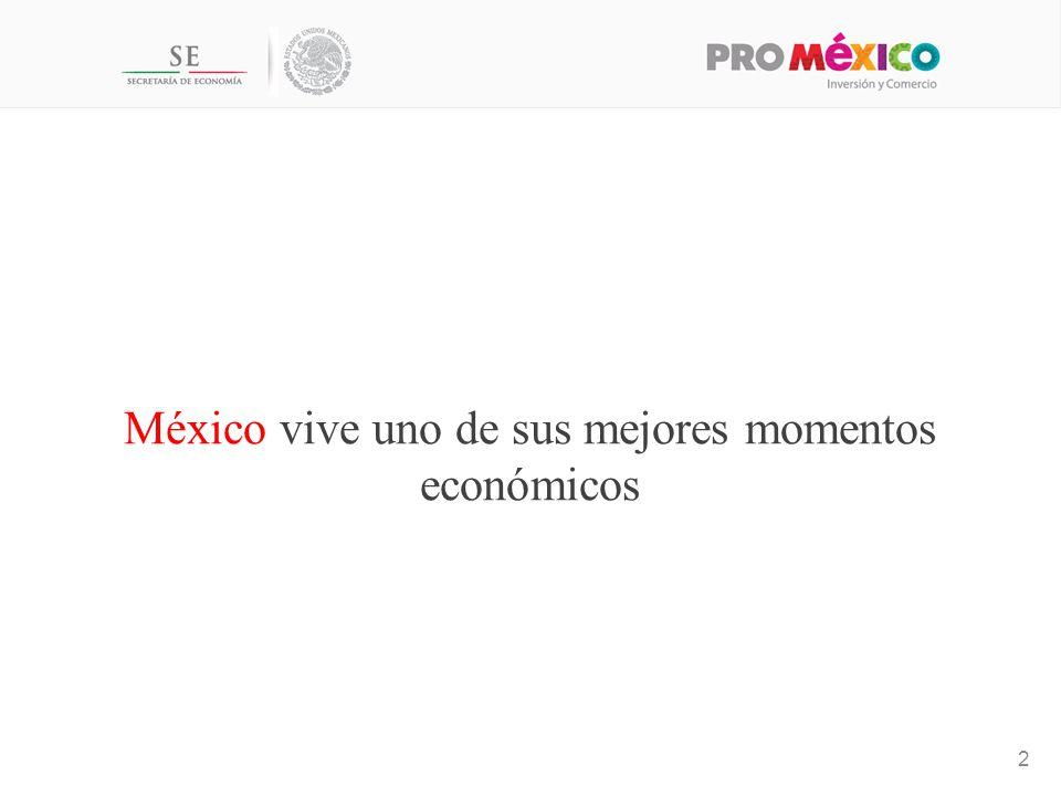México vive uno de sus mejores momentos económicos
