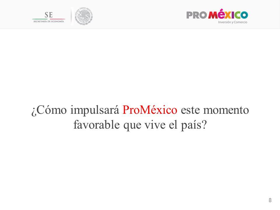 ¿Cómo impulsará ProMéxico este momento favorable que vive el país