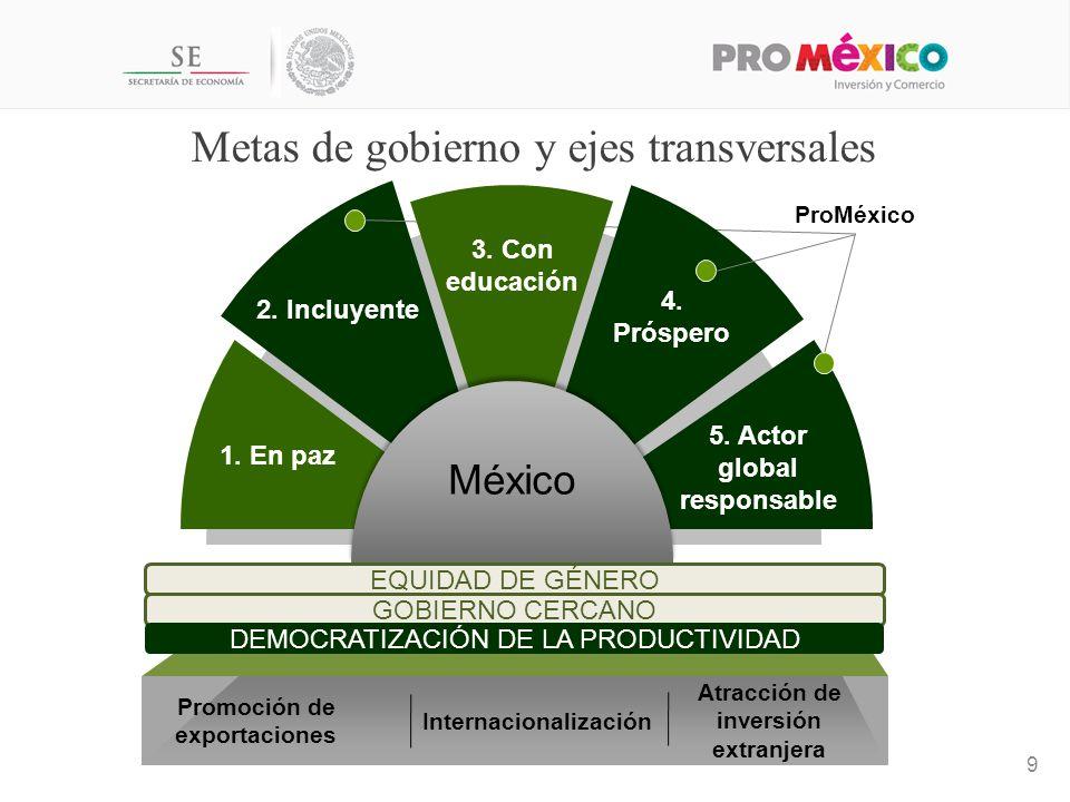 Metas de gobierno y ejes transversales