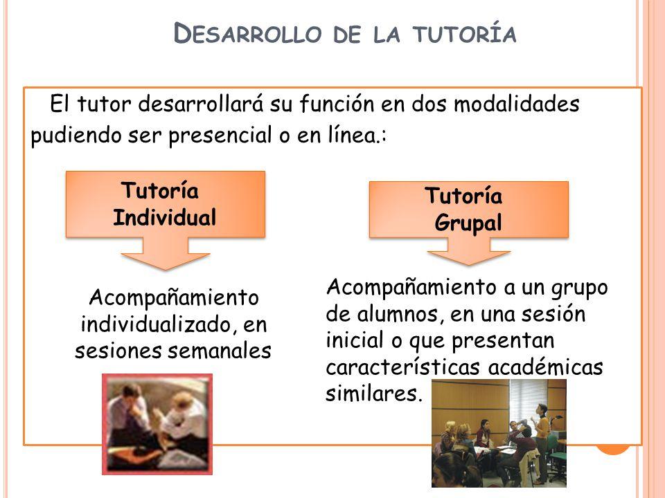 Desarrollo de la tutoría