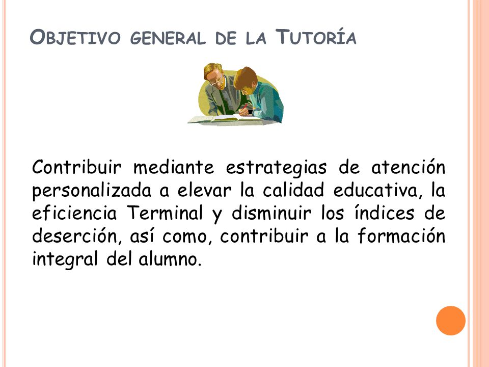 Objetivo general de la Tutoría