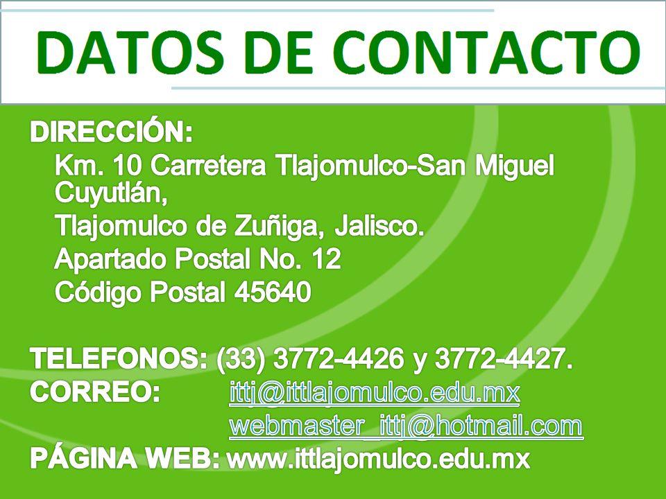 DIRECCIÓN: Km. 10 Carretera Tlajomulco-San Miguel Cuyutlán, Tlajomulco de Zuñiga, Jalisco.