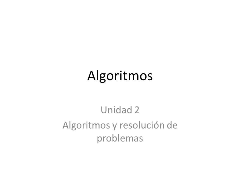 Unidad 2 Algoritmos y resolución de problemas
