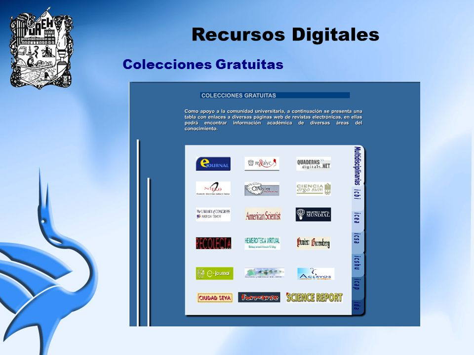 Recursos Digitales Colecciones Gratuitas