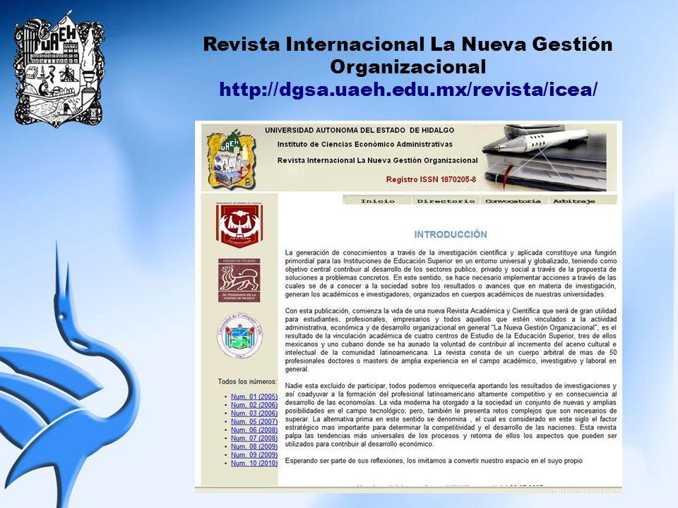 Revista Internacional La Nueva Gestión Organizacional