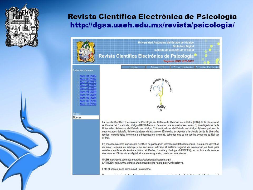 Revista Científica Electrónica de Psicología