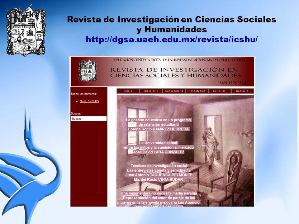 Revista de Investigación en Ciencias Sociales