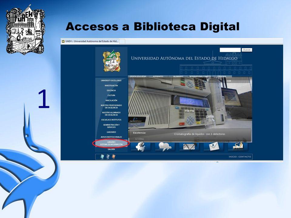Accesos a Biblioteca Digital