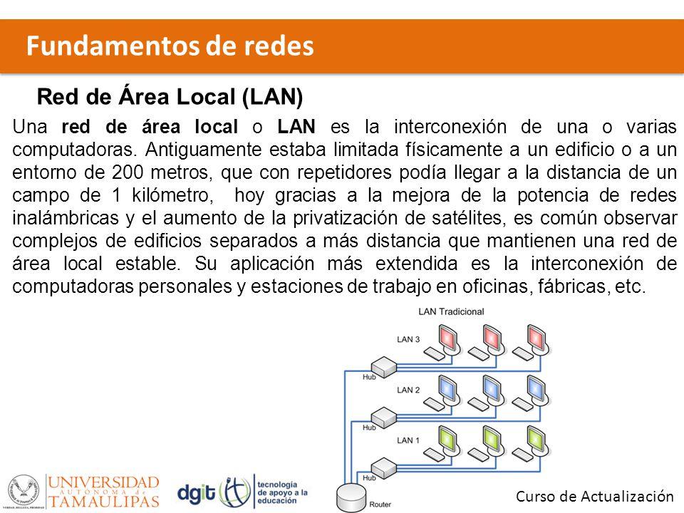 Fundamentos de redes Red de Área Local (LAN)