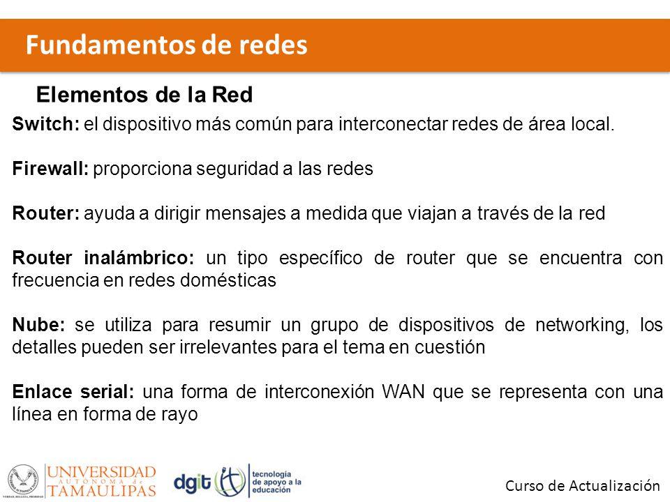 Fundamentos de redes Elementos de la Red