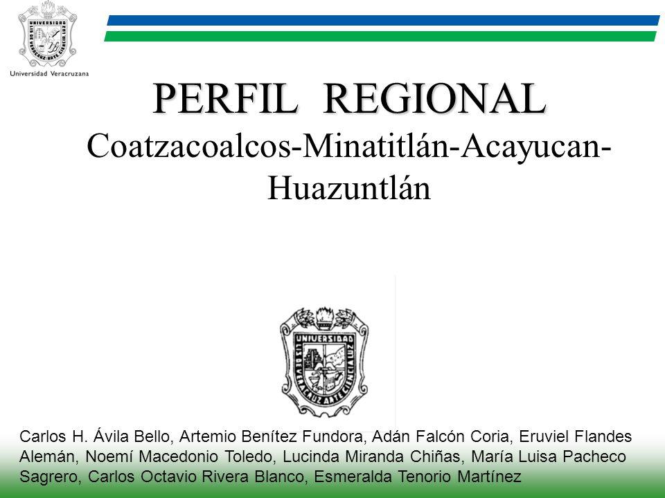 PERFIL REGIONAL Coatzacoalcos-Minatitlán-Acayucan-Huazuntlán